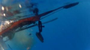 The wrong way to use sonar on a kayak.